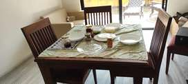 M P tik wood Dinning table for 4 person in very low price