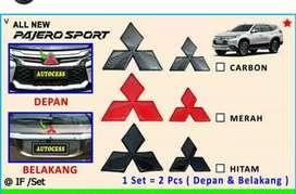 1 set Logo pajero sport  n expander ( Megah top )