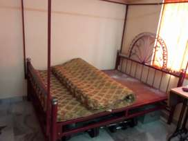 double bed iron with mattress