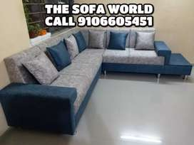 Premium looking L sofa with cushions available
