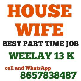 Housewife best job weekly 13000 extra income