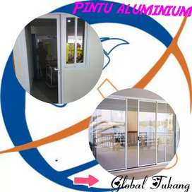 Jasa pembuatan dan pasang pintu aluminium