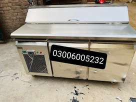 Pizza prap table counter Cooling chiller under counter pizza oven