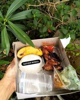 Aneka nasi kotak ayam bakar madu ( ukuran 1 ekor potong )