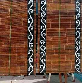 Tirai bambu/kerei