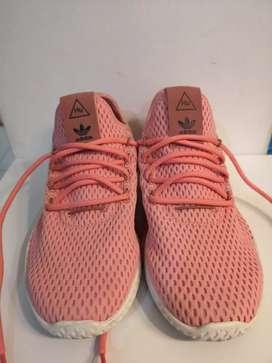 Adidas PHARELL WILLIAMS Tennis HU Pink super original