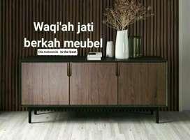 Meja tv Retro modern, p. 150cm, bahan kayu jati tua asli terbaik