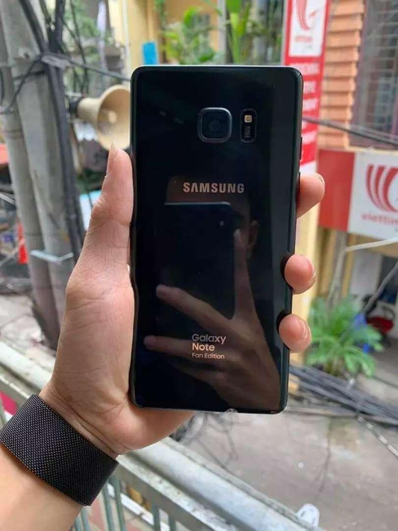 Samsung note fe black komplit 0