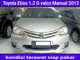 Toyota Etios 1.2 G valco Manual/mt 2013 tdp 20juta langsung proses
