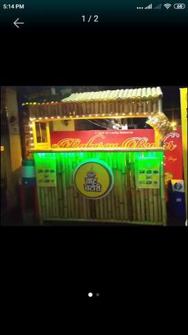 Bamboo stall