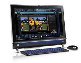 """PC ALL IN ONE MERK HP TOUCH SMART 600 23"""" INCH CORE I3,4GB,HDD 500 GB"""