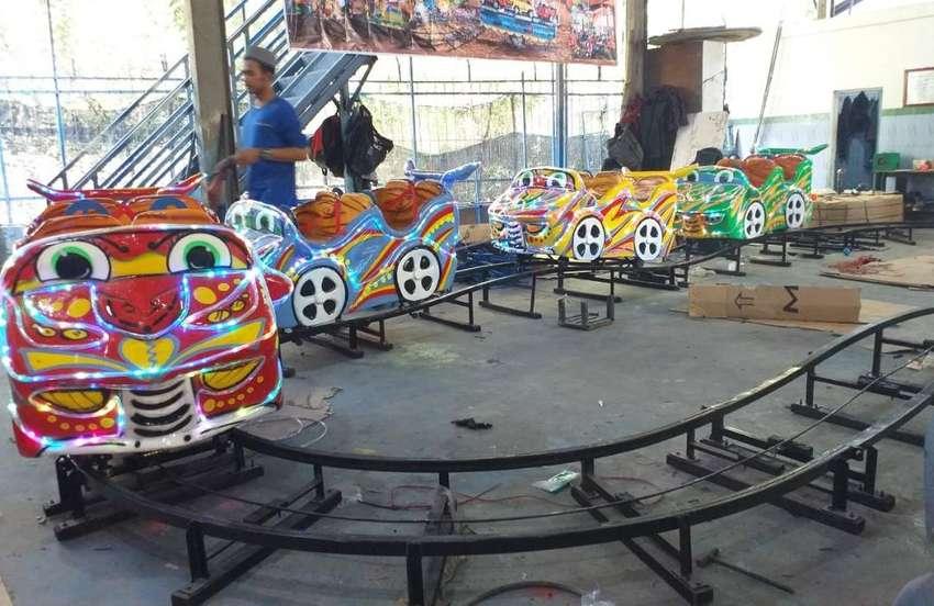 ER2 mini coaster lantai meja pasir kinetik kereta lantai odong 0