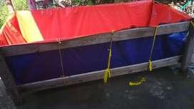 KOLAM TERPAL ikan uk (200x100x50) A5 MIMA KOREA ORIGINAL