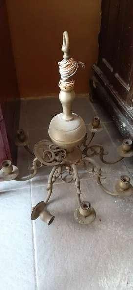 Lampu bahan kuningan asli antik