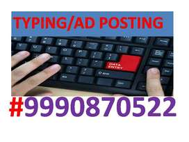 Data entry work part time job TYPING WORK AND COPY PASTE PROJECT JOIN
