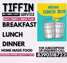 Home made pure veg tiffin services.