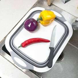 CYAN PEAK Talenan Cuci Lipat Foldable Silicone Cutting Board TW-386