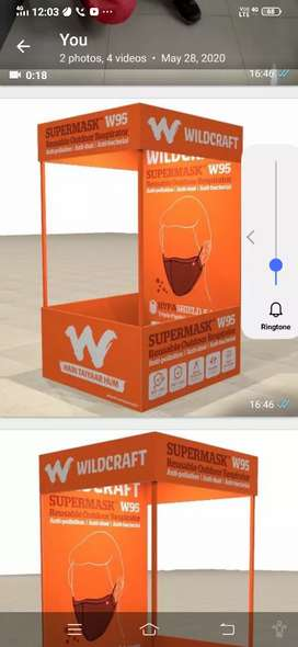 Required sales staff for Wildcraft kiosk