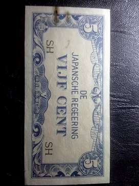 Murah.. Uang / Duit Jadul Jaman Penjajahan Jepang 3 lembar