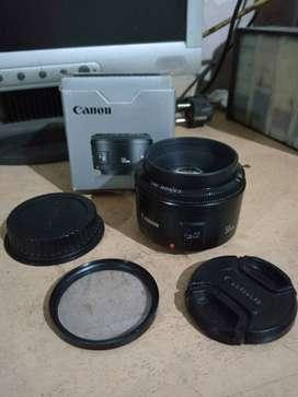 lensa fix canon 50mm f1.8 nego