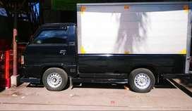 Mitsubishi L300 solar pickup Box warna hitam
