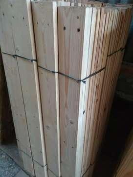 Kayu Pinus/jati Belanda ukuran 130x9x1,5 cm
