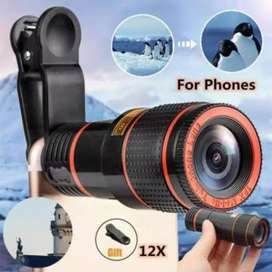 12x Magnification Zooming Lens for Mobiles
