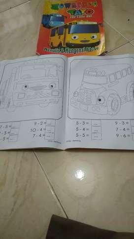 Buku anak mewarnai, berhitung,mengenal huruf