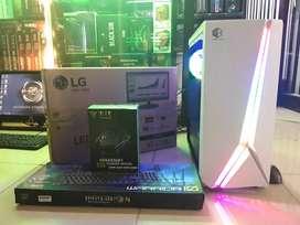 Pc Gaming & Rendering Core i5 + Led 19 Inc Wide Baru
