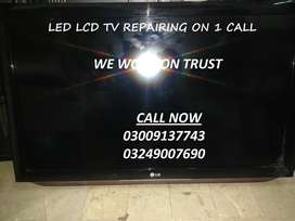 (Work With Expertise And Dignity) All Sizes Of LED/LCD TV Repairing
