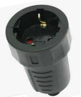 Steker Contra Kontra Arde Karet industrial industri 2 pin Kaiser