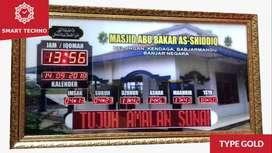 Ready Siap Jual Jam Digital Masjid Terbaik Tipe Gold