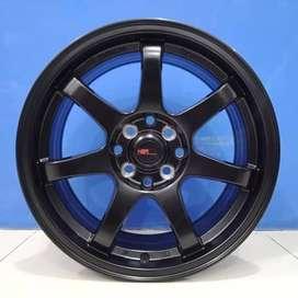 Cicil Velg Mobil GTR SPORT HSR Wheel Ring 16 Semi Matte Black