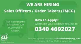 Sales Officer / Order Takers / Order Bookers (FMCG)