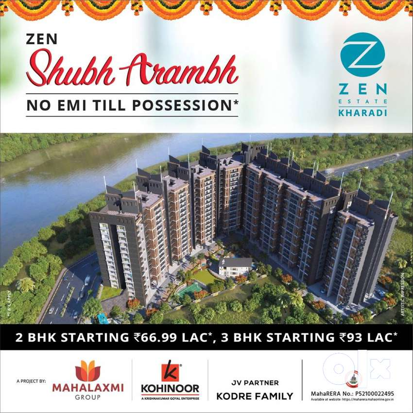 *10% on booking and Rest on Possession Kharadi Zen Estate^ 0