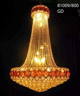 Lampu gantung gold  Kristal Tipe  81009 /900 untuk gresik