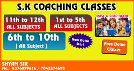 We need biology teacher for 11th class and 12th class