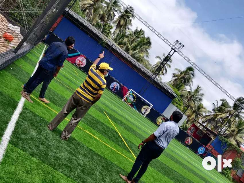 Installation of FIFA quality pro turff for football turf