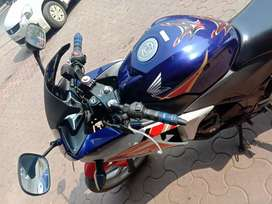 CBR 250 with stylish blue color in good condition