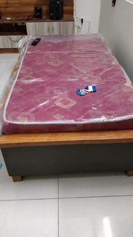 Diwan bed with 4inch mattress 3x6 sft. Solid wood and very durable