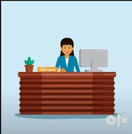 Opportunity for freshers Female job receptionist required in hospital