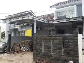 Pemasangan krangka atap kanopi baja ringan