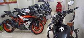 Used new condition bike and scooty available with easy emi facility