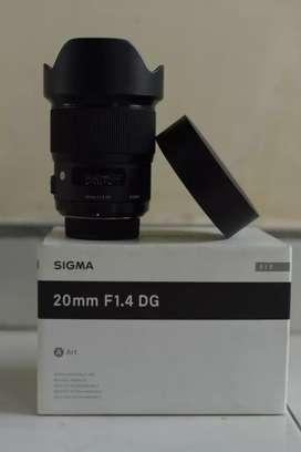 Lensa Sigma 20mm Art Fullframe Nikon like new