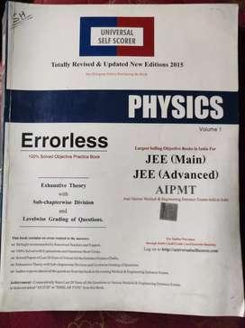 Class (10+2) 12th Science Errorless Physics, Chemistry (Both)  Vol 1,2