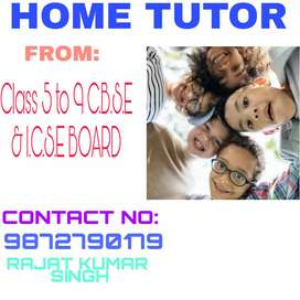 If anybody need home tutor (english speaking)  from class 5 to 9 ..