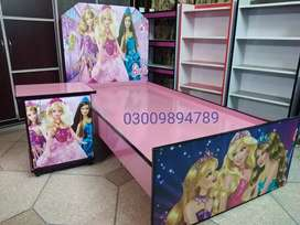 Barbie kids character bed, 6 by 3 feet,