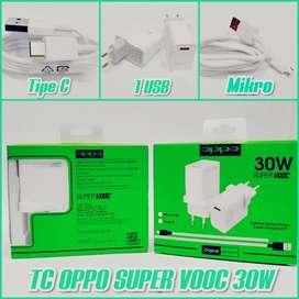 Charger Oppo ORI 30w (type-c / mikro)