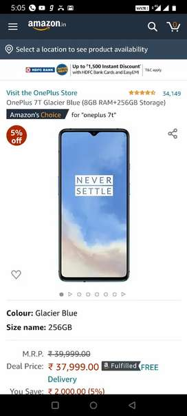 OnePlus 7T ( 8 / 256 ) good condition