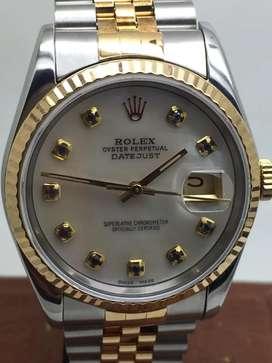 Promo Rolex Men Kerang Safir biru
